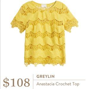 Greylin Anastacia crochet top medium
